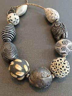 IMG_5268 | big beads, polymer | kathy cannella | Flickr Metal Clay Jewelry, Ceramic Jewelry, Ceramic Beads, Ceramic Clay, Jewelry Art, Beaded Jewelry, Jewelry Design, Jewellery, Jewelry Ideas