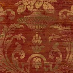 SM30383-Silk-Satin-Distressed-Rust-Red-Damask-Wallpaper