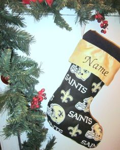 New Orleans Saints Christmas Stocking by FlavorsofmyRainbow, $24.99