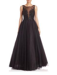 Basix Black Label - Embellished Illusion Ball Gown