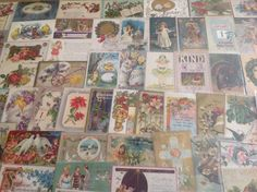 Nice! Vintage/Antique Lot of 1900's Holiday/Greetings Postcards-100 Cards-ttt281 #Easter