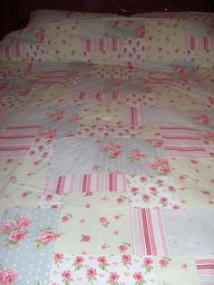 Shabby Chic Bedding by Faerie Nuff, via Flickr