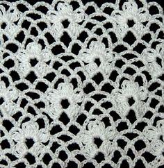 Crochet : Punto Enrejado con Flor. Parte 2 de 2