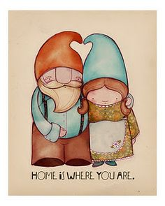 """The Gnomes ...would also make a cute """"new house"""" card"""
