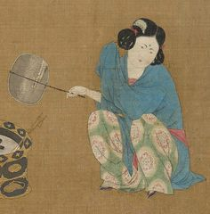 A girl by a stove side - By Emperor Huizong of Song