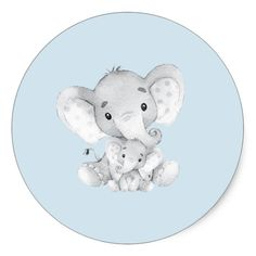 Shop Elephant Jungle Animals Baby Shower Favor Sticker created by invitationstop. Peanut Baby Shower, Baby Shower Niño, Tea Party Baby Shower, Baby Shower Favors, Jungle Animals, Baby Animals, Scrapbooking Image, Baby Showers Juegos, Baby Motiv