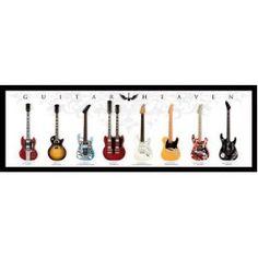 Guitar Heaven Chart of Famous Guitars Music Poster Print