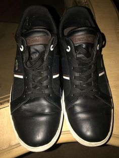 47487b24a210 Lacoste Mens Asparta Dark Blue Leather Fashion Sneaker 10.5 5.5 10  Condition  fashion  clothing  shoes  accessories  mensshoes  casualshoes ( ebay link)