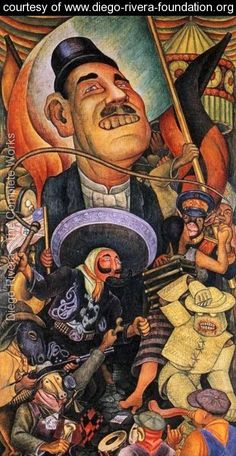 Carnival of Mexican Life Dictatorship 1936 - Diego Rivera - www.diego-rivera-foundation.org