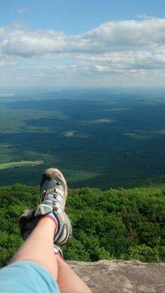 Overlook Mountain hike overlook Catskills. Worth it!