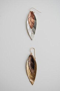 lily leather earrings by ravenandlily, via Flickr