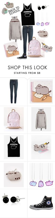 """""""#PVxPusheen"""" by familyquintas ❤ liked on Polyvore featuring Yves Saint Laurent, Pusheen, Bling Jewelry, Converse, contestentry and PVxPusheen"""
