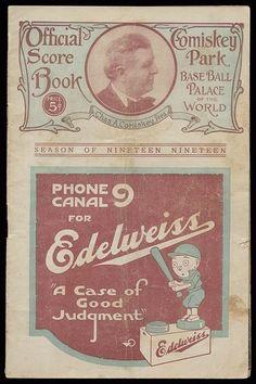 1919 Chicago White Sox World Series Program and Rare 1919 Black Sox Team Postcard