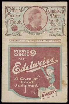 1919 Chicago White Sox World Series Program.  Well, we all know how this World Series turned out... and the careers and reputations of the White Sox.