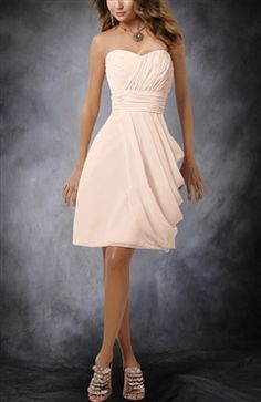 Sweetheart Short Side Ruched Bridesmaid Dress - Bridesmaid Dresses - OuterInner.com