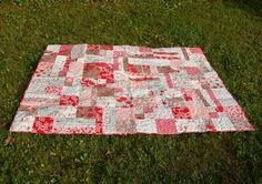 Winter's Lane by Moda Fabrics Lap Quilt by FifthandPlum on Etsy