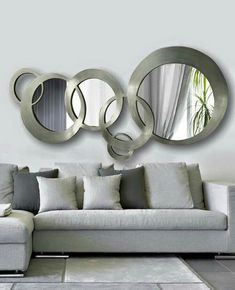 Fascinating Cool Tips: Leaning Wall Mirror wall mirror vintage sinks.Wall Mirror Above Couch Spaces wall mirror vintage sinks. Living Room Mirrors, Living Room Decor, Mirror Bedroom, Bedroom Wall, Above Couch, Rustic Wall Mirrors, Home Interior Design, Living Room Designs, House Design