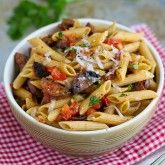 Cookin' Canuck | Roasted Tomato & Chicken Sausage Whole Wheat Pasta Recipe