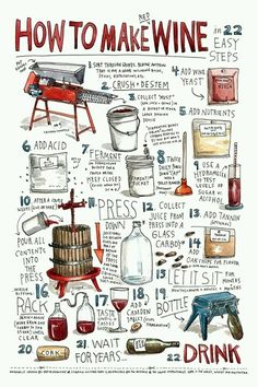 How To Make Wine... Good thing we have #vineyards just minutes away from #PismoBeach