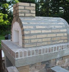 Gable Roof Wood Fired Outdoor Brick Pizza Oven By The Gyomber Family And  BrickWood Ovens