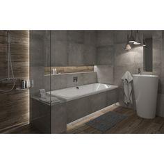 Ceramika Paradyż Gres szkliwiony Concrete grys cm x cm kupuj w OBI Cement, Concrete, Alcove, Bathtub, Bathroom, Home, Google, Standing Bath, Washroom
