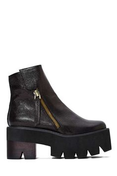 Jeffrey Campbell Dulli Leather Platforms - Jeffrey Campbell