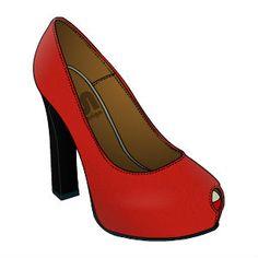 Oto moje nowe buty zaprojektowane na stronie Fun in Design