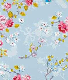 Eijffinger PIP studio behang Chinese rose zachtblauw