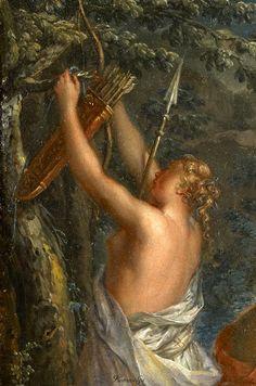 (JOHANN GEORG PLATZER, 1704-1761, AUSTRIA) . The Bath of Diana