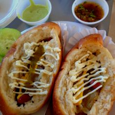 Sonoran (bacon wrapped) hotdogs as seen on Man vs Food. My lunch in Tucson, AZ