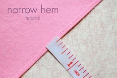I sew a lot of narrow hems these days, and I've tried so many different methods to make them. The majority of tutorials for narrow ...