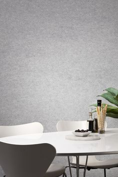 EchoPanel Mura - 2mm think wallpaper made of acoustically performing PET fibres has a felt like appearance and comes in a range of plain or printed designs and colours