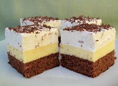 Americký krémeš Köstliche Desserts, Sweets Recipes, Gourmet Recipes, My Recipes, Delicious Desserts, Cakes To Make, How To Make Cake, Sweet Cookies, Yummy Cookies