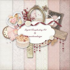 Digital Scrapbooking Kit  003  for scrapbooking card & by martora, $4,00