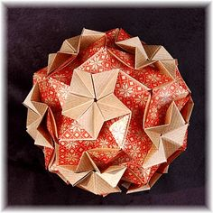 Origami Maniacs: Origami Regenbogen Kusudama by Maria Vahrusheva