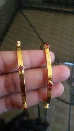 Simple but stunning Gold Bangles Design, Jewelry Design, Solid Gold Bangle, Kids Jewelry, Baby Jewelry, Gold Jewelry, Indian Jewelry, Jewelry Collection, Antique Jewelry
