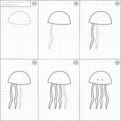 How to draw a jellyfish.