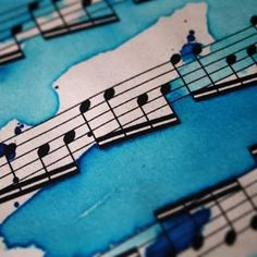#paint #art #sheet #music #blue #painting #sheetmusic #paper #watercolor #waterpaint