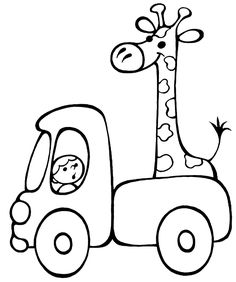Vehicle coloring pages for babies 6