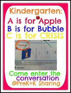 Kindergarten ABCs: Apples, Bubbles, Crisis! at PreK+K Sharing