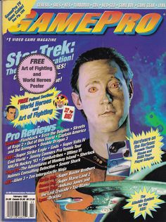 Gamepro Magazine Star Trek: The Next Generation 1993 - Game - Data - Sega CD - Game Magazine - Console - Trek - Deep Space Nine - TV Video Game Magazines, Gaming Magazines, Classic Video Games, Retro Video Games, Star Trek Tv Series, Star Trek Merchandise, Sega Cd, Art Of Fighting, Hero World