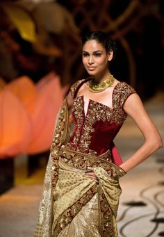 Rohit Bal's bridal collection 2013.  Read more - http://thebigfatindianwedding.com/2013/rohit-bal-aamby-valley-india-bridal-week-2013/