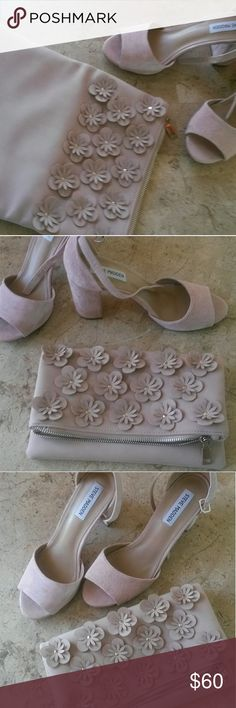 Shoes   Steve Madden & bag STEVE MADDEN SUEDE MAUVE HEELS AND MATCHING BAG (BAG HAS NO NAME). WORN ONE TIME NO SCUFFS OR MARKS ON EITHER. BEAUTIFUL CONDITION Steve Madden Shoes Heels