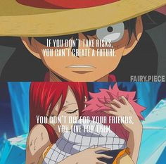 Anime Quote || One Piece || Fairy Tail