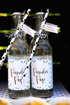 """Panda Pop"" from a chic Party Like a Panda Birthday Party at Kara's Party Ideas. See this monochromatic party and more at karaspartyideas.com!"