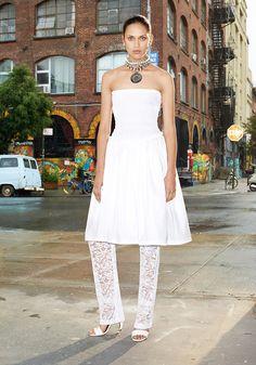 A Trendy Life.: Trend Alert : Dress Over Pants