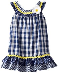 Amazon.com: Youngland Baby-girls Infant Gingham Dress with Daisy: Clothing