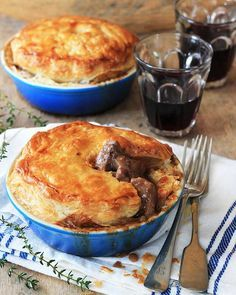 This is steak and kidney pie the way it should be – positively stuffed with meat and covered with melt-in-the-mouth pastry.