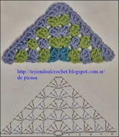 Crochet Fabric , Crochet - Ganchillo - Patrones - Graficos: Lindo Tejido A Crochet Y Un Amigurumi - Diy Crafts - Maallure - Diy Crafts Lidia Crochet Tricot, Poncho Crochet, Crochet Shawl Diagram, Crochet Fabric, Granny Square Crochet Pattern, Crochet Stitches Patterns, Crochet Chart, Crochet Squares, Crochet Motif