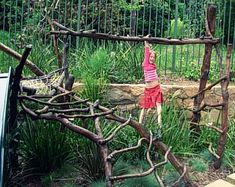 Outdoor play doesn't have to be ugly. These five exciting backyard play structures take the same-old, same-old out of backyard play. Natural Play Spaces, Outdoor Play Spaces, Outdoor Jungle Gym, Outdoor Fun, Backyard Playground, Backyard For Kids, Playground Ideas, Children Playground, Outdoor Play Equipment